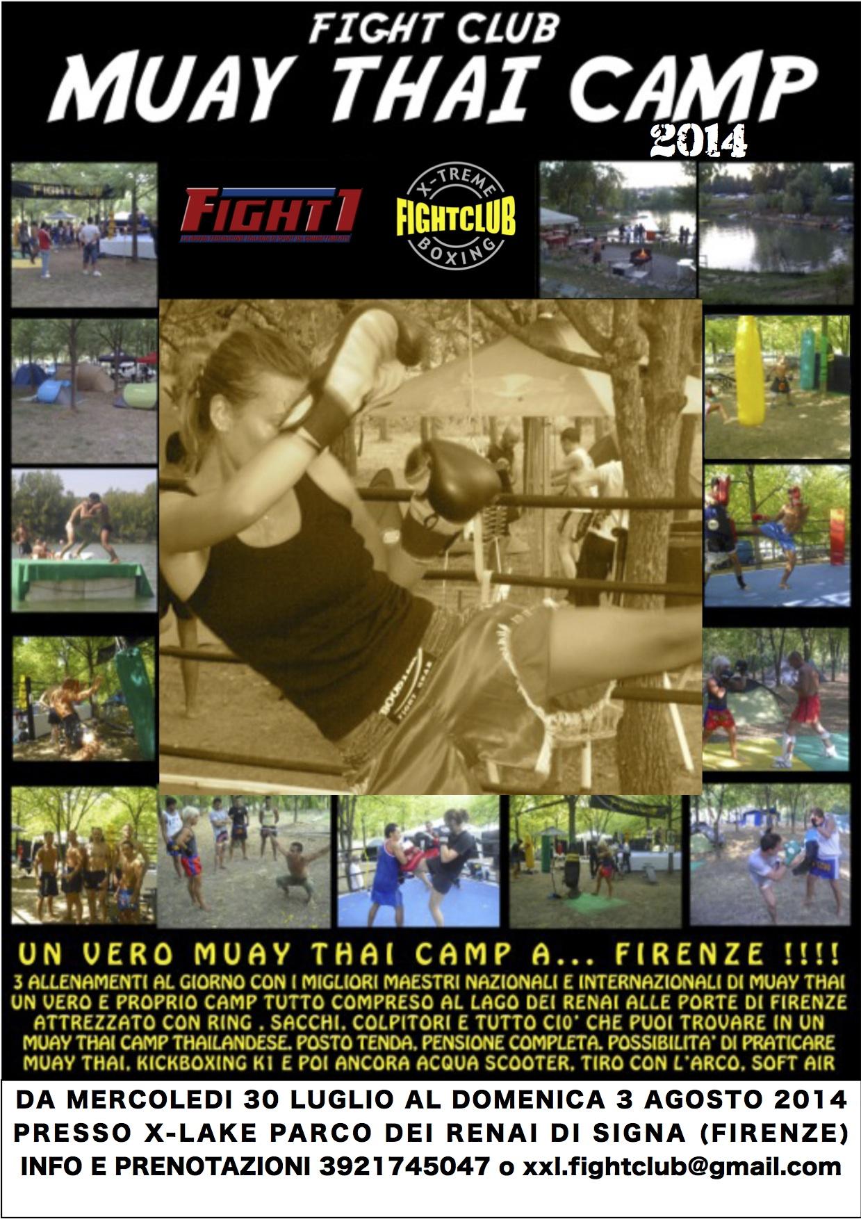 LOCANDINA MUAY THAI CAMP 2014